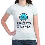 Atheists for OBAMA Jr. Ringer T-Shirt
