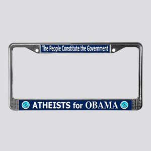 Atheists for OBAMA License Plate Frame