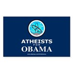 Atheists for OBAMA Rectangle Sticker