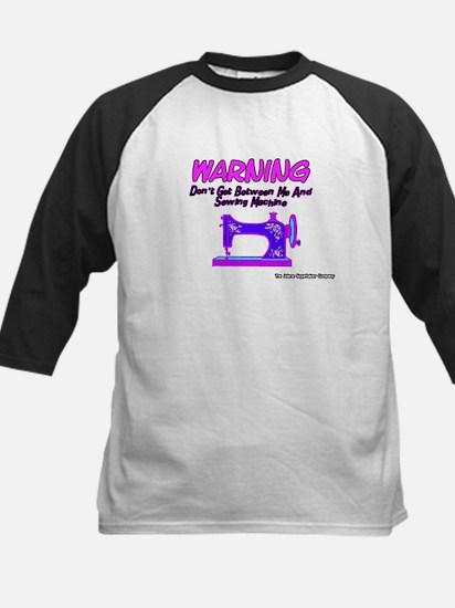 Warning Sewing Machine Kids Baseball Jersey
