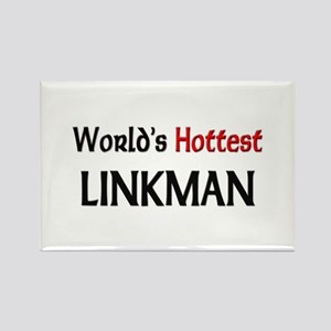 World's Hottest Linkman Rectangle Magnet