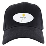 Yellow Daisy Girl Black Cap