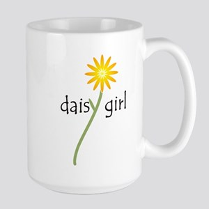 Yellow Daisy Girl Large Mug