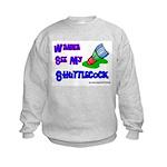 Wanna See my ShuttleCock Badm Kids Sweatshirt