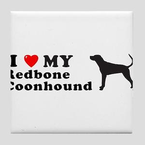 REDBONE COONHOUND Tile Coaster