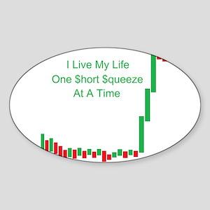 Live Life Short Squeeze Bar Sticker