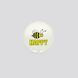 BEE HAPPY Mini Button