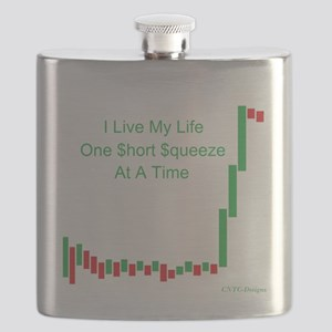 Live Life Short Squeeze Bar Flask