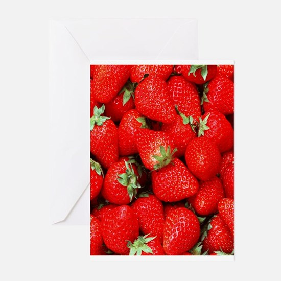Strawberry Flip Greeting Cards