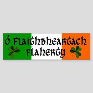 Flaherty in Irish & English Bumper Sticker