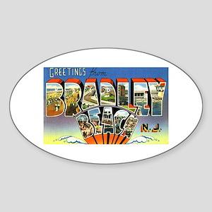 Bradley Beach New Jersey Oval Sticker