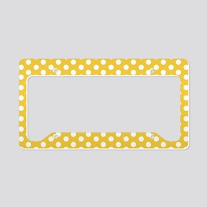 Yellow Polka Dots License Plate Holder