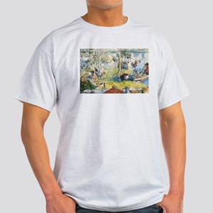 Crayfishing with the Family by Carl Larsso T-Shirt