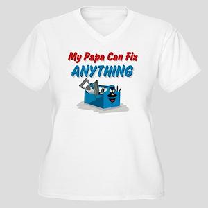 Fix Anything Papa Women's Plus Size V-Neck T-Shirt