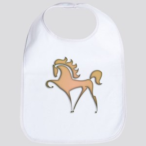 Stylized Horse (orange) Bib