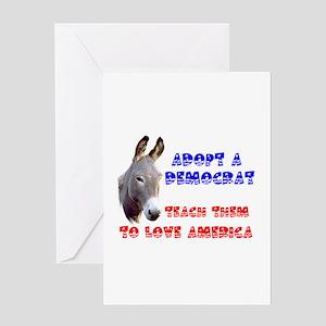 ADOPT A DEMOCRAT Greeting Card