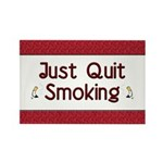 Just Quit Smoking Rectangle Magnet (100 pack)