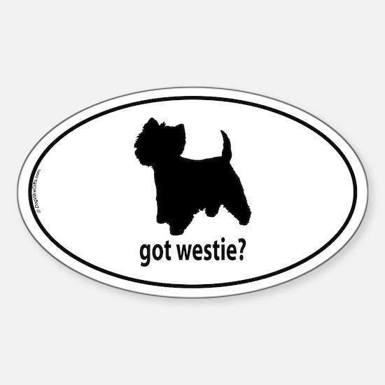 Got Westie? Oval Decal