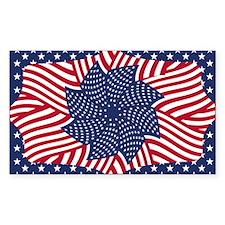 Flag Mandala Rectangle Sticker