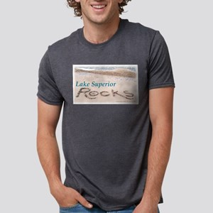 Lake Superior Beach Rocks T-Shirt (Gray) T-Shirt