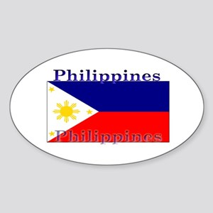 Philippines Filipino Flag Oval Sticker