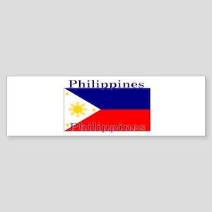 Philippines Filipino Flag Bumper Sticker