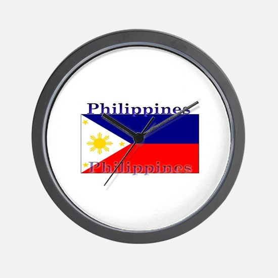 Philippines Filipino Flag Wall Clock