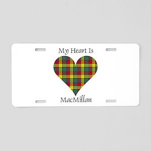 Heart-MacMillan Aluminum License Plate
