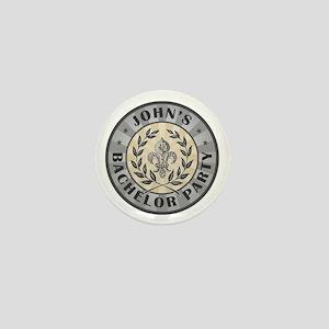 John's Personalized Bachelor Party Mini Button