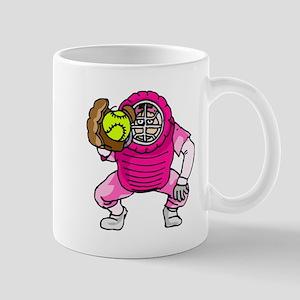 Pink Softball Catcher Mug