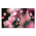 Cherry Tree Blossom Sticker (Rectangle 50 pk)