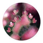 Cherry Tree Blossom Round Car Magnet