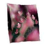 Cherry Tree Blossom Burlap Throw Pillow
