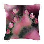Cherry Tree Blossom Woven Throw Pillow