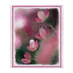 Cherry Tree Blossom Throw Blanket