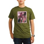 Cherry Tree Blossom Organic Men's T-Shirt (dark)