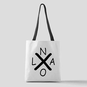 Hurrican Katrina X NOLA black f Polyester Tote Bag