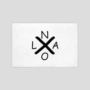 Hurrican Katrina X NOLA black font 4' x 6' Rug