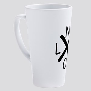 Hurrican Katrina X NOLA black font 17 oz Latte Mug