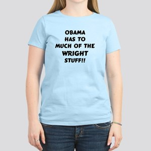 Obama Too Much Women's Light T-Shirt