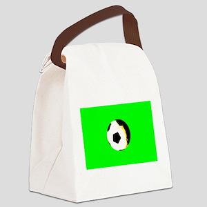 Green Soccer Futbol 4Fred Canvas Lunch Bag