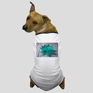Blue Glass Lotus Dog T-Shirt