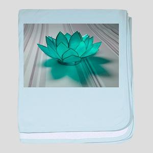 Blue Glass Lotus baby blanket