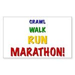 Crawl Walk Run Marathon Kids Sticker