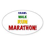 Crawl Walk Run Marathon Sticker