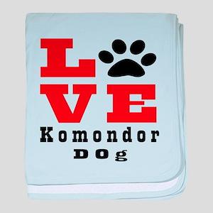 Love Komondor Dog Designs baby blanket