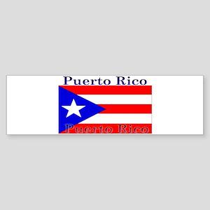 Puerto Rico Rican Flag Bumper Sticker