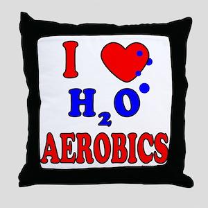 WATER AEROBICS Throw Pillow