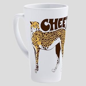 Cheetah 17 oz Latte Mug