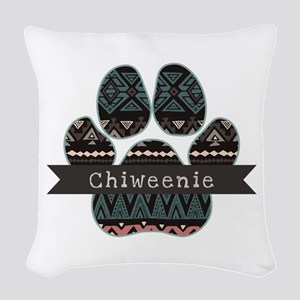 Chiweenie Woven Throw Pillow
